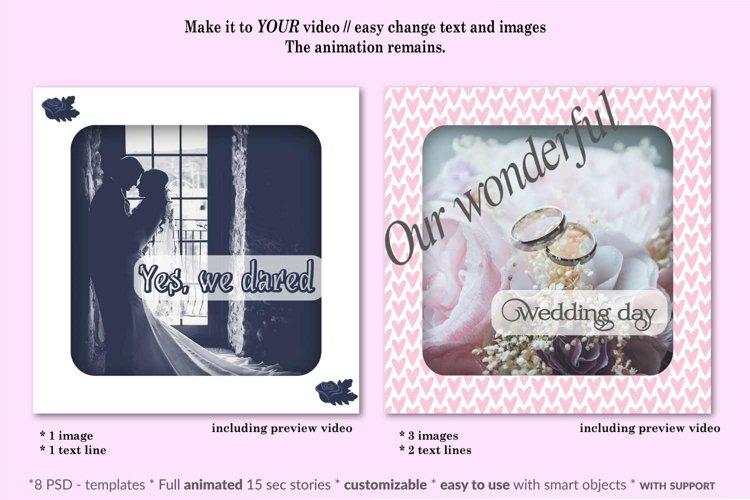 MOCKUP - Animated Instagram templates, Wedding, inc. custom example 1