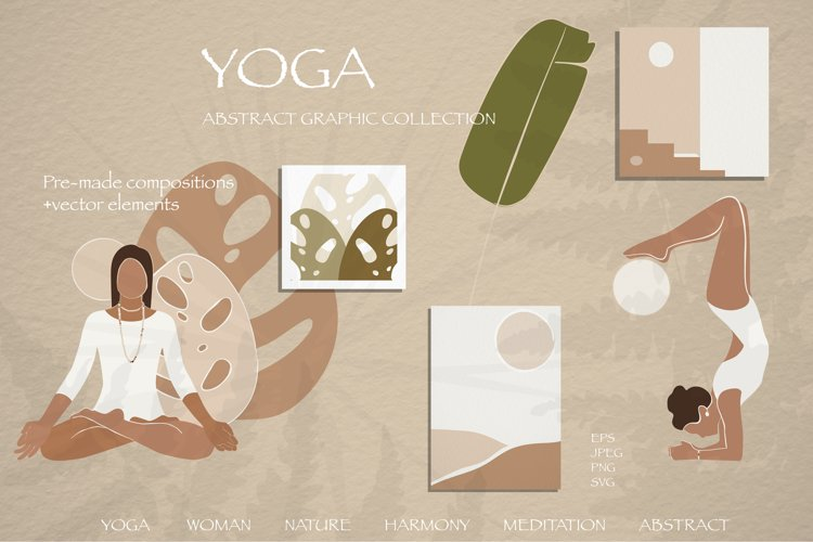 Yoga abstract graphic collection