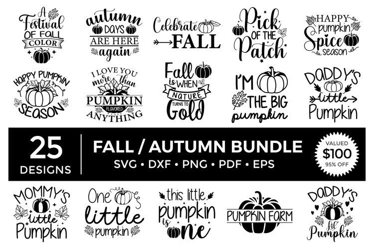 Fall SVG Bundle, Autumn SVG Bundle, Fall Quotes Bundle Vol.2 example image 1