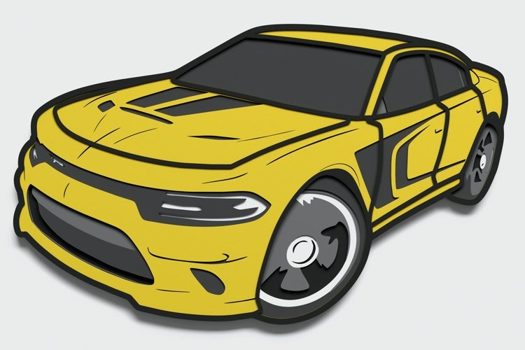 Multilayer Racing Car svg, Vector file for cutting