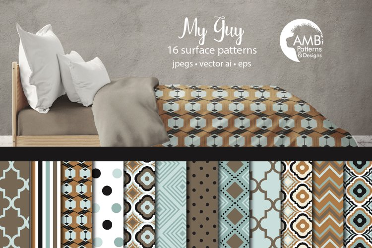 My Guy Surface Patterns, Masculine Papers, AMB-1286