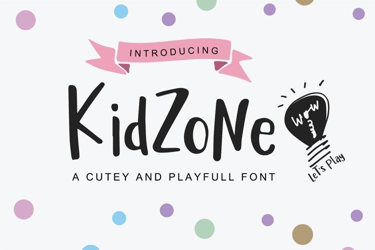 Kid Zone - A cute handritten font example image 1