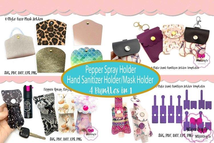 Hand Sanitizer Holder and Mask Holder Bundle 2|Spray Holder example image 1
