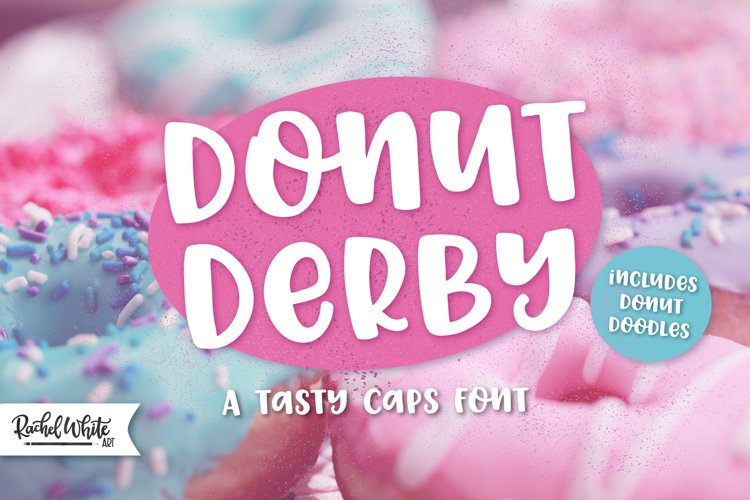 Donut Derby, a tasty caps font