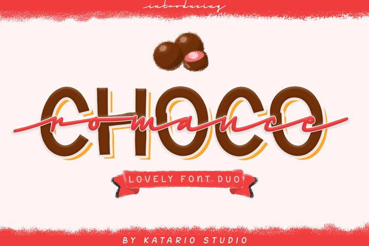 Choco Romance | Lovely Font Duo example image 1