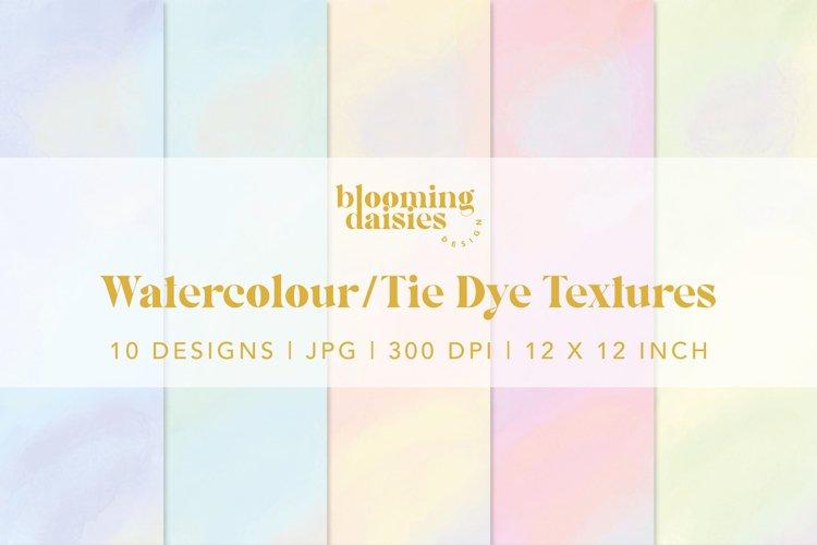 Pastel watercolor digital paper, tie dye paper bundle example 2