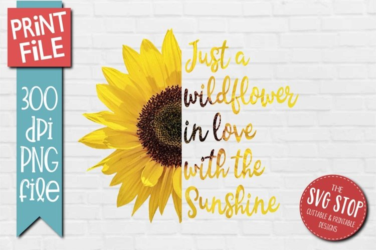 Sunflower Clipart Quotes Sublimation Design PNG example