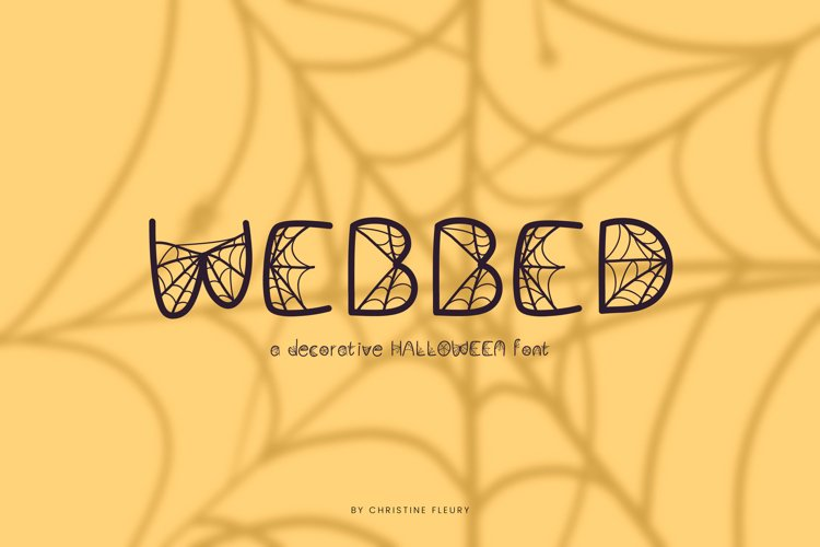 Webbed - A decorative Halloween Font example image 1