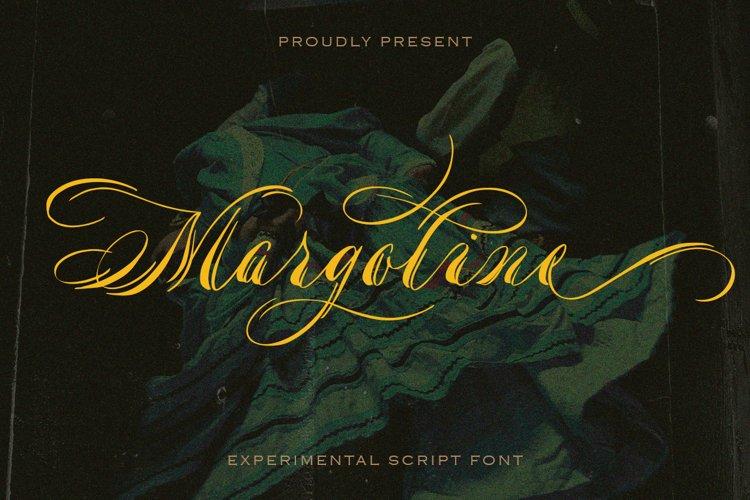 Margoline - script font example image 1