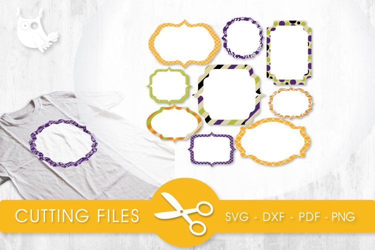Labels cutting files svg, dxf, pdf, eps included - cut files for cricut and silhouette - Cutting Files SVG example image 1