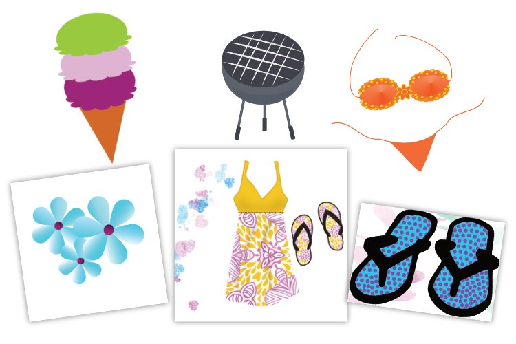 Summer Vacation Clipart example image 1