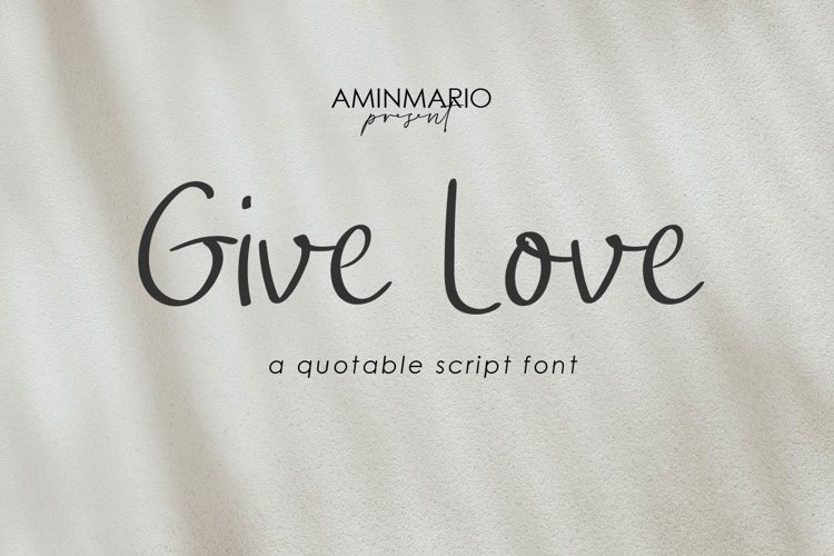 Give Love example image 1