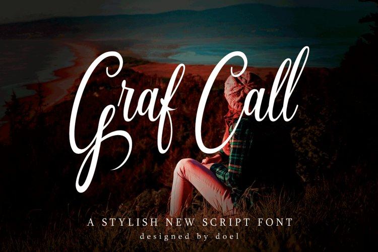 Graf Call New Stylish Script Font example image 1
