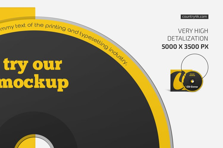 CD Cover Mockup example 2