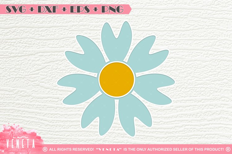 Flower | Heart Petals | SVG DXF EPS PNG | Cutting File example image 1
