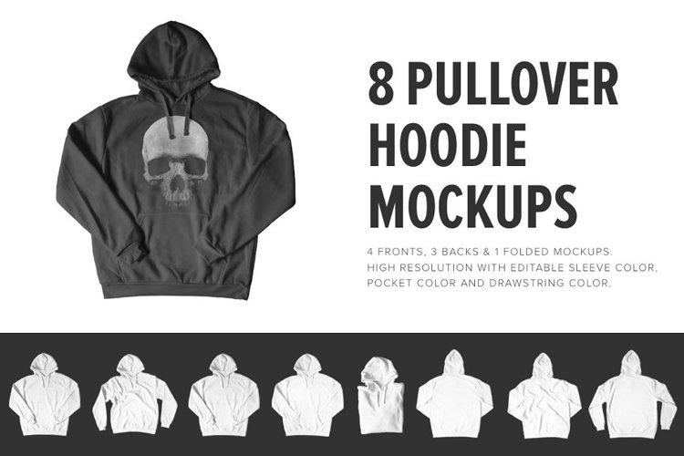 8 Premium Pullover Hoodie Mockups