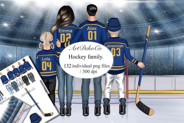 Family Portrait ice hockey jersey, Family illustration example image 1