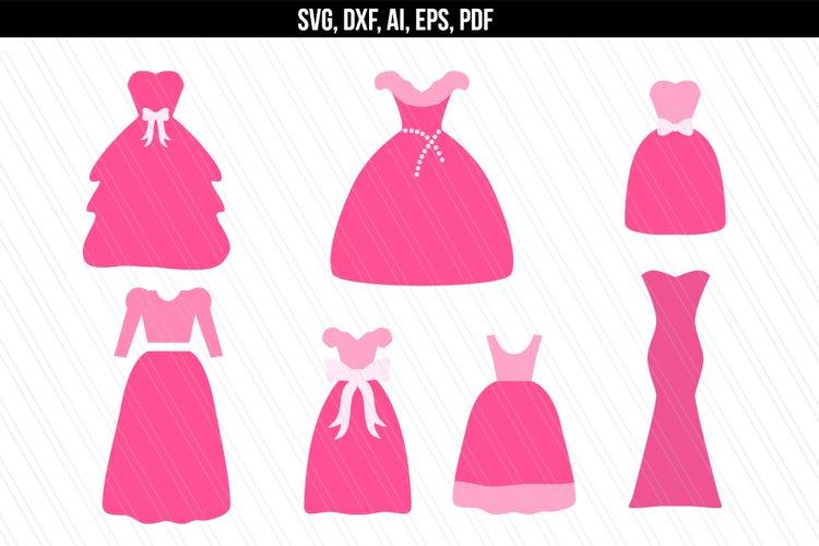 Princess/ Wedding/ Dress svg dxf example image 1