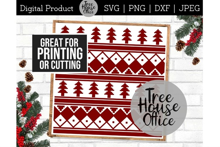 Ugly Christmas Sweater, Nordic Winter Pattern Sublimation example image 1