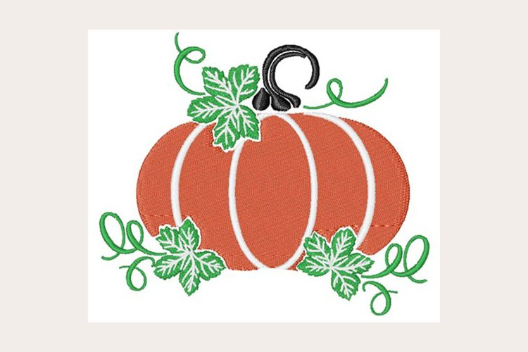 Fall Pumpkin - Machine Embroidery Design example image 1