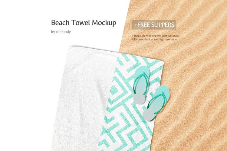 Beach Towel Mockup example image 1