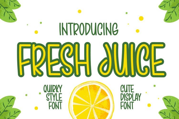 Fresh Juice - Cute Display Font example image 1