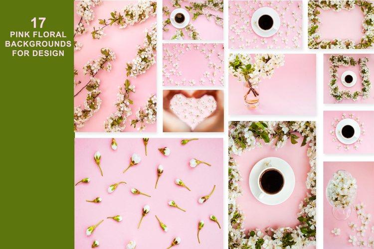17 pink floral backgrounds for design