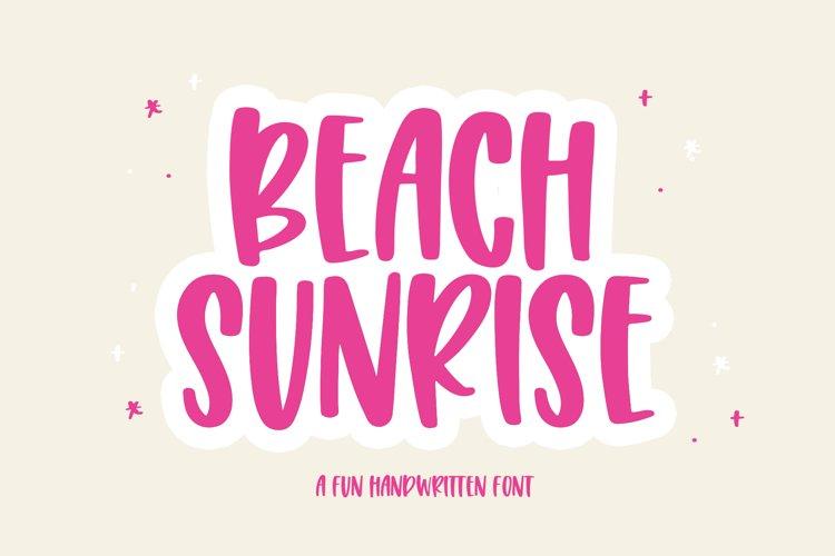 Beach Sunrise - A Fun Handwritten Font example image 1