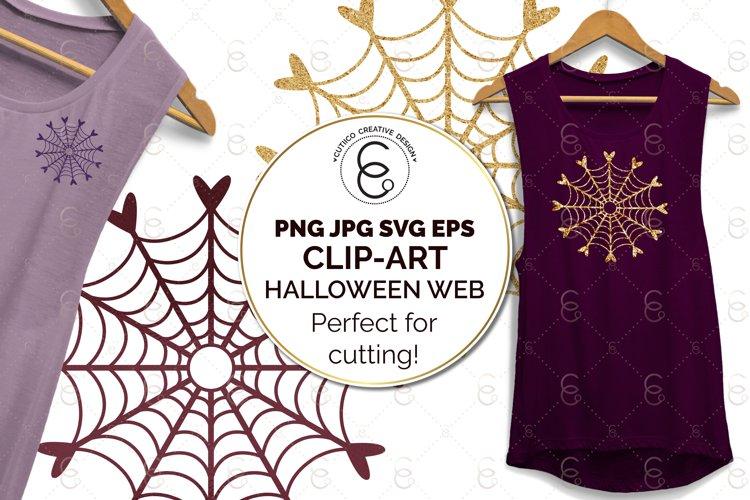 Halloween Heart Cobweb Clip Art SVG PNG JPG EPS cut file