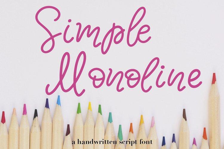 Simple Monoline A Handwritten Font example image 1