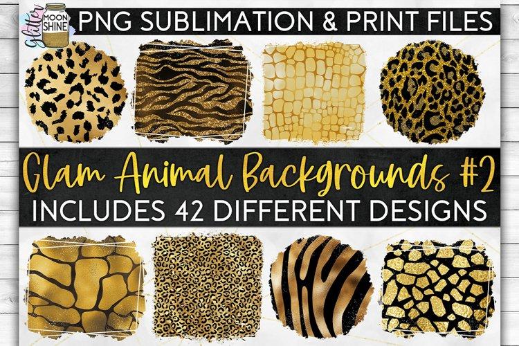 Glam Animal Print Bundle of 42 Sublimation Background PNG