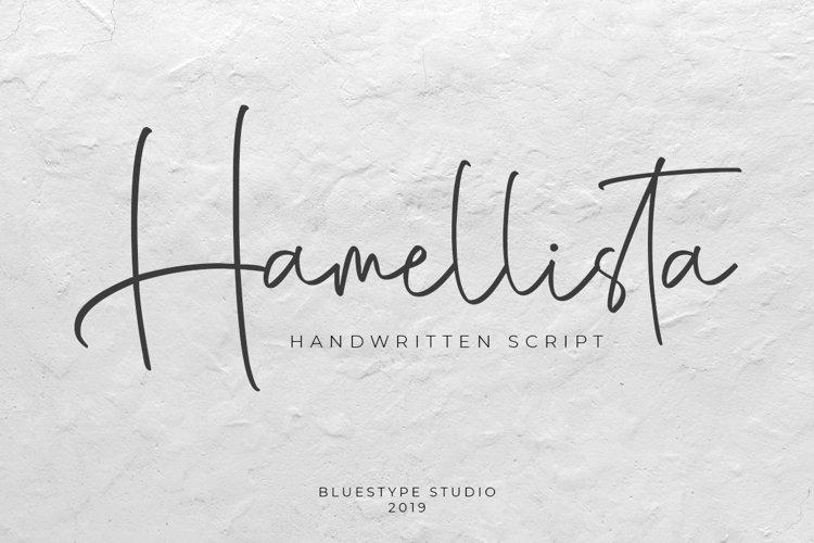Hamellista - Handwritten Script Font example image 1