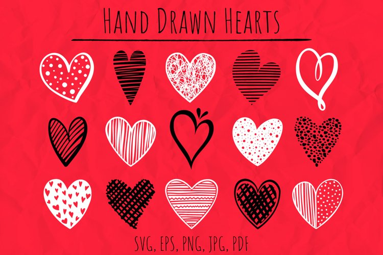 Hand Drawn Hearts For Cutting | SVG Files