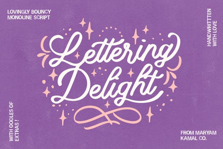 Lettering Delight Script Font