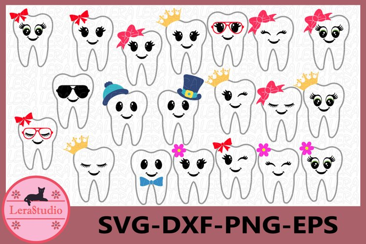 Tooth Fairy Svg, Tooth Fairy Bags, Tooth SVG,Dentist Tooth example image 1