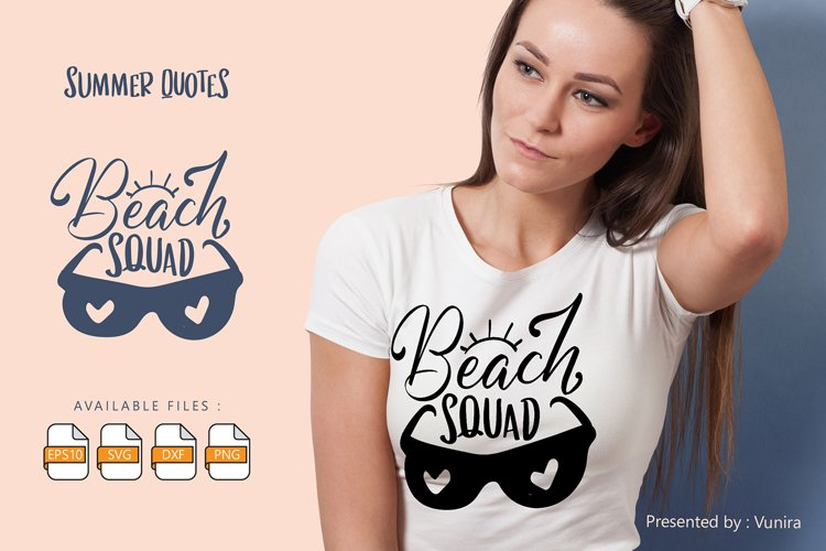 Beach Squad | Lettering Quotes example image 1