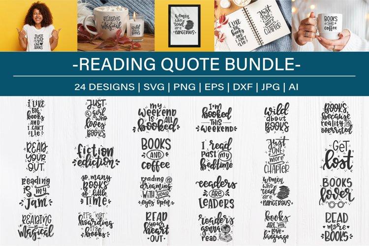 Reading SVG Bundle design set| Book lover SVG example image 1