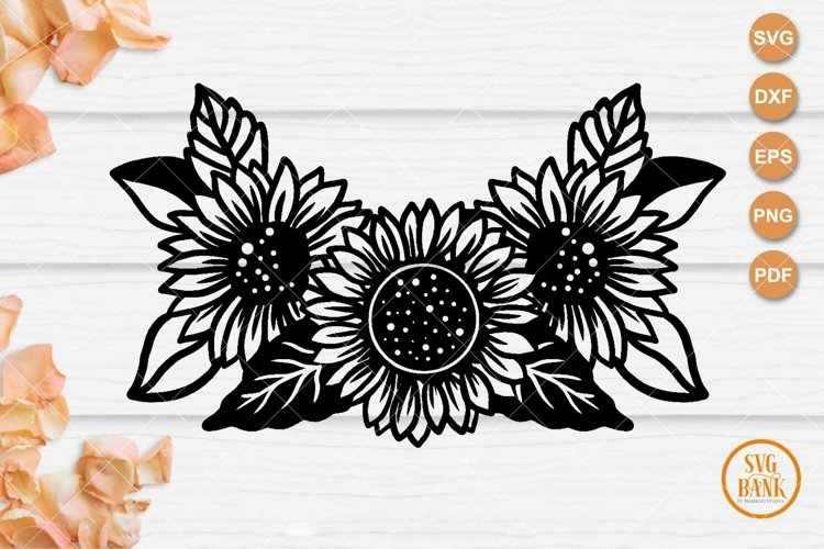 Sunflower bouquet SVG, Sunflower arrangement cut file example image 1