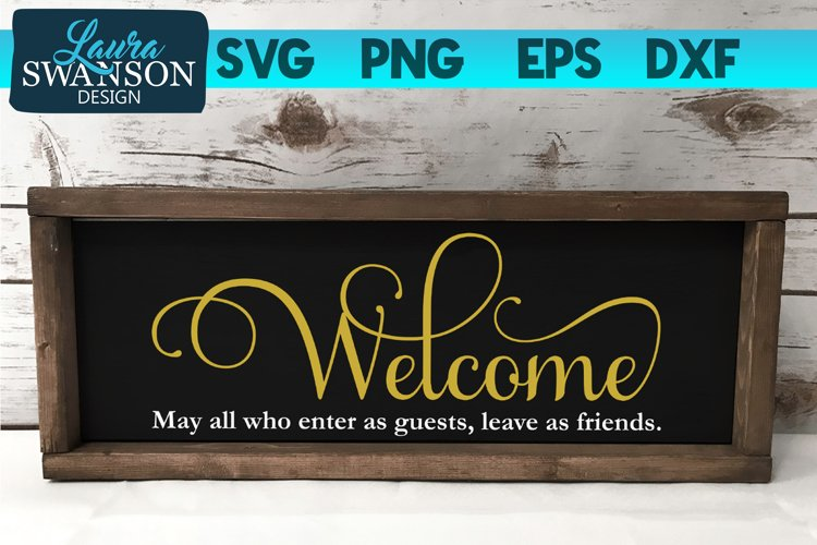 Welcome Sign SVG | Welcome SVG example image 1