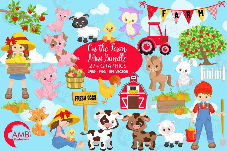 Farm animal clipart, graphics, illustrations AMB-1494 example image 1
