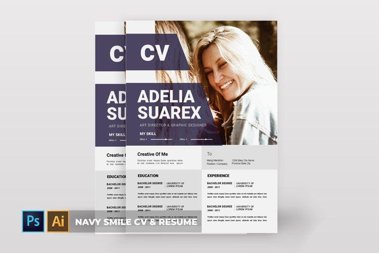 Navy Smile   CV & Resume example image 1