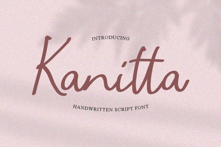 Kanitta - Handwriting Script example image 1
