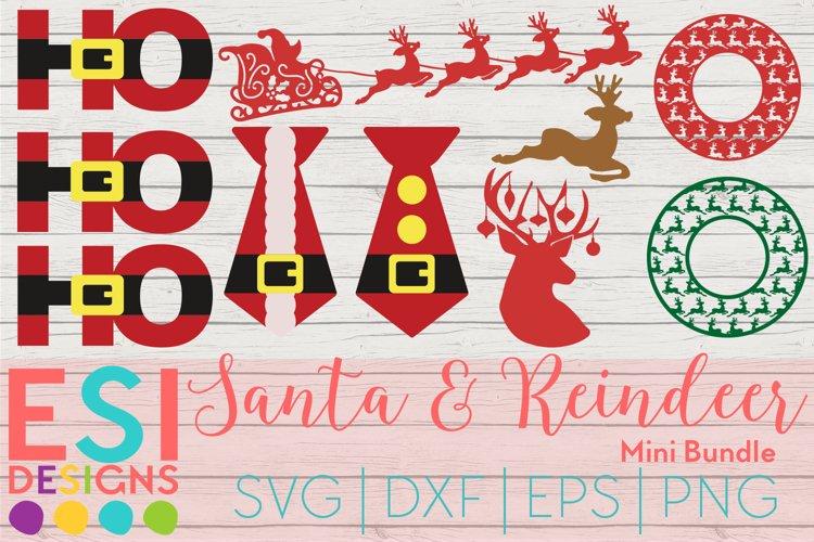 Christmas SVG|Santa Reindeer Mini Bundle | SVG DXF EPS PNG example image 1