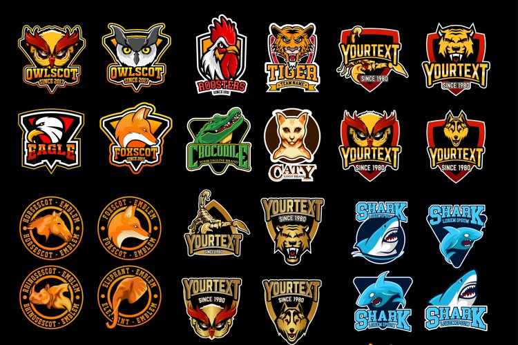29 esports gaming EMBLEM LOGO BADGES example image 1