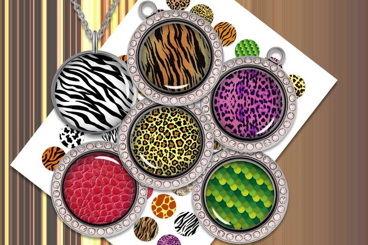 Digital Collage Sheet Instant Download Animal Print 10mm 12mm 14mm 16mm 20mm Round printable images for Earrings Cuff Links