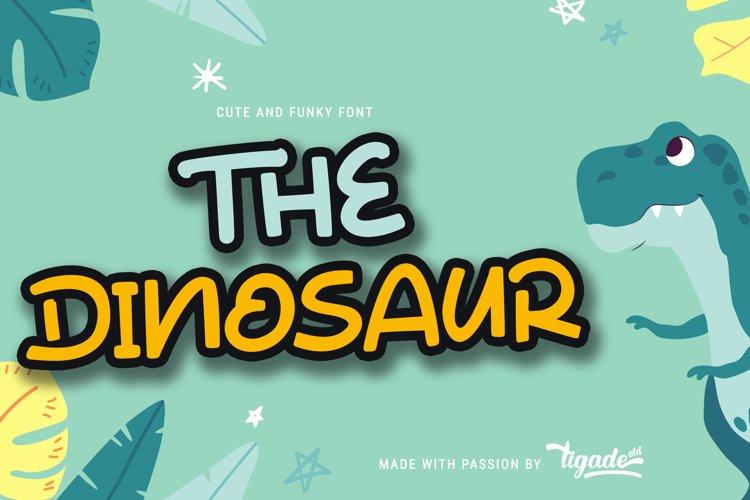 The Dinosaur - Cute Display Font