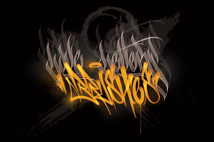 LOVE LETTERS CALLIGRAFFITI BRUSH PACK FOR PROCREATE example image 1