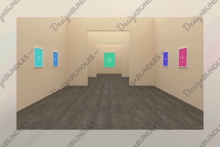 Art Gallery Frames Mockup multi directions example image 1