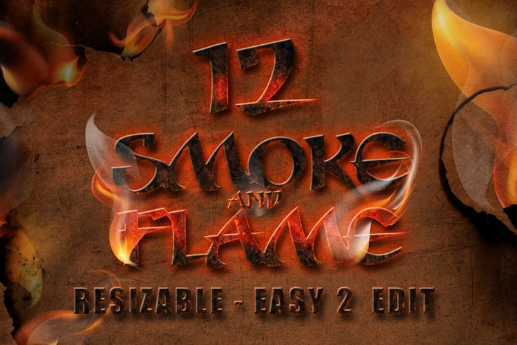 12 Smoke and Flame Effects example image 1