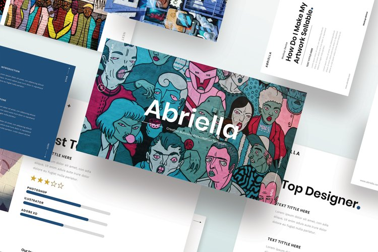 Abriella - Creative Business PowerPoint Template example image 1